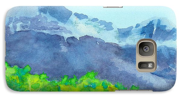 Galaxy Case featuring the painting Montana Mountain Mist by C Sitton