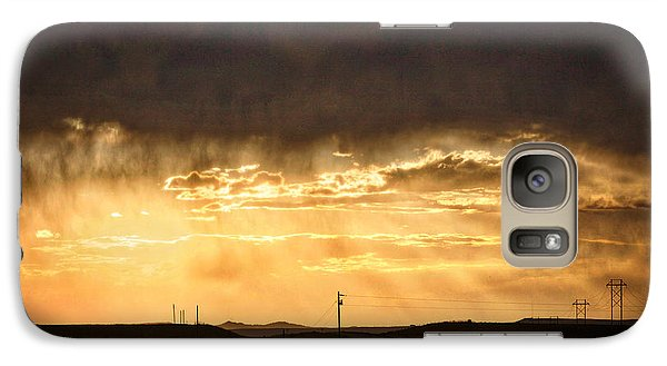 Galaxy Case featuring the photograph Montana Sky Storm Approach by Kate Purdy