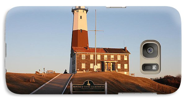 Galaxy Case featuring the photograph Montauk Lighthouse Entrance by John Telfer