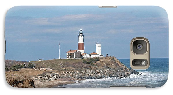 Galaxy Case featuring the photograph Montauk Lighthouse View From Camp Hero by Karen Silvestri