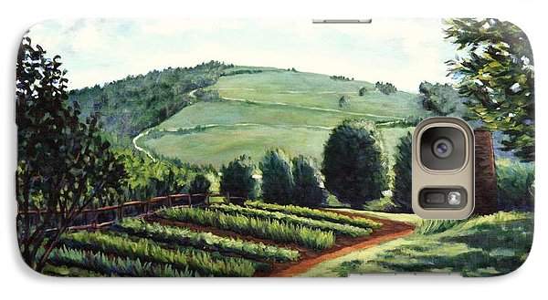 Galaxy Case featuring the painting Monticello Vegetable Garden by Penny Birch-Williams