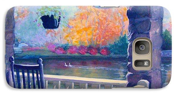 Galaxy Case featuring the pastel Montreat Porch by Gretchen Allen