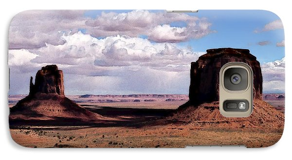 Galaxy Case featuring the digital art So This Is Where God Put The West by David Blank