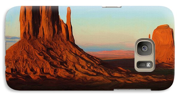 Monument Valley 2 Galaxy Case by Ayse Deniz