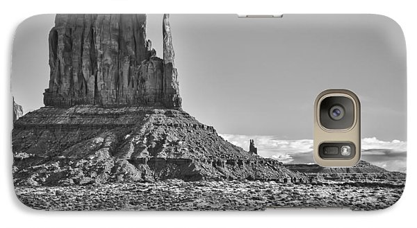 Galaxy Case featuring the photograph Monument Valley 3 Bw by Ron White