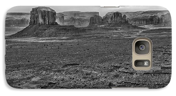 Galaxy Case featuring the photograph Monument Valley 4 Bw by Ron White