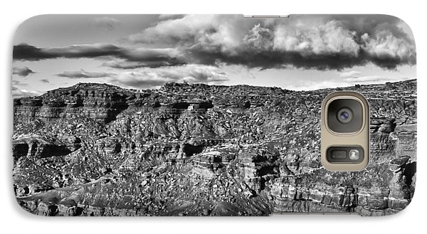 Galaxy Case featuring the photograph Monument Valley 5 Bw by Ron White