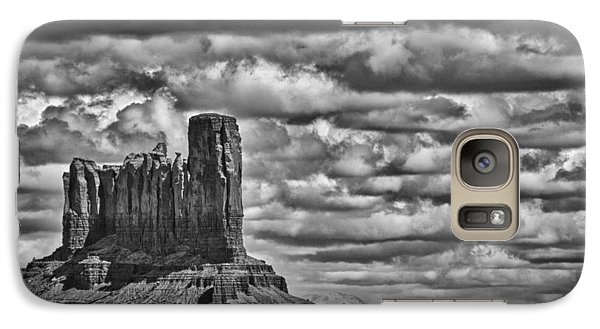 Galaxy Case featuring the photograph Monument Valley 6 Bw by Ron White