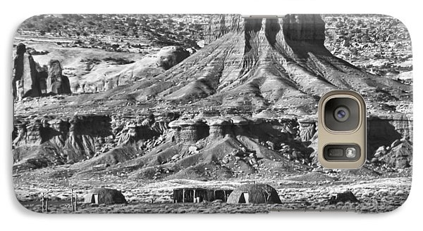Galaxy Case featuring the photograph Monument Valley 7 Bw by Ron White