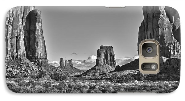 Galaxy Case featuring the photograph Monument Valley 8 Bw by Ron White