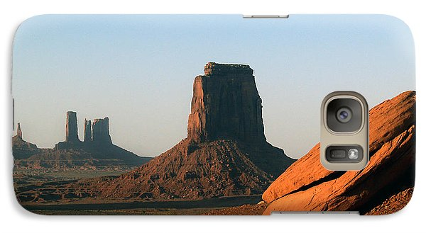Galaxy Case featuring the photograph Monument Valley Afternoon by Jeff Brunton