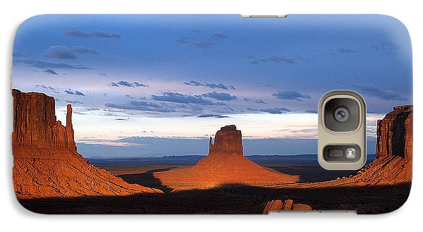 Galaxy Case featuring the photograph Monument Valley @ Sunset 2 by Jeff Brunton