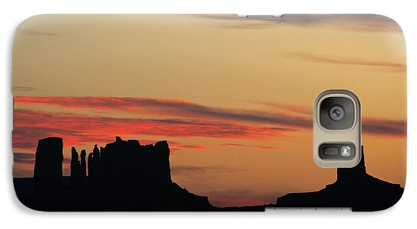 Galaxy Case featuring the photograph Monument Valley Sunset 1 by Jeff Brunton