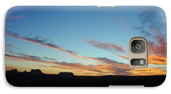 Galaxy Case featuring the photograph Monument Valley Sunset 2 by Jeff Brunton