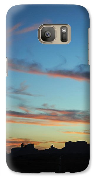 Galaxy Case featuring the photograph Monument Valley Sunset 3 by Jeff Brunton