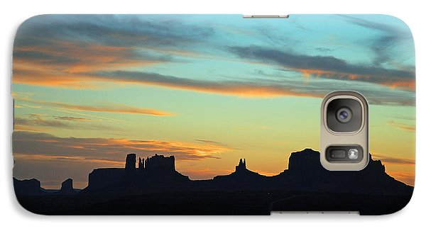 Galaxy Case featuring the photograph Monument Valley Sunset 4  by Jeff Brunton