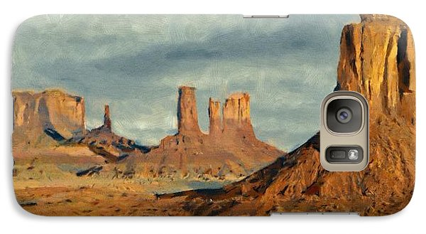 Galaxy Case featuring the painting Monumental by Jeff Kolker