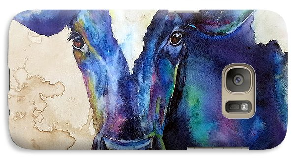 Galaxy Case featuring the painting Moo by Christy  Freeman