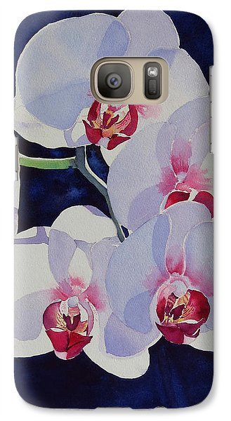 Galaxy Case featuring the painting Moolight Dance by Judy Mercer