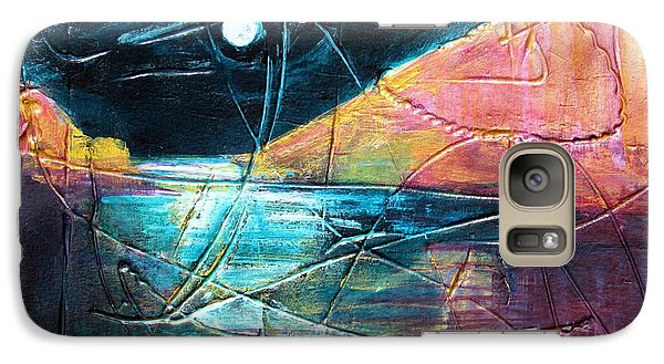 Galaxy Case featuring the painting Moon And Lagune by Betty Pieper