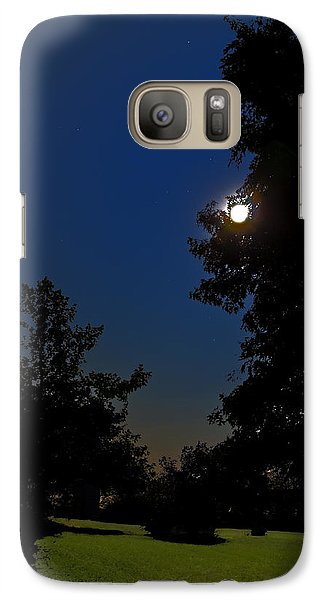 Galaxy Case featuring the photograph Moon And Pegasus by Greg Reed