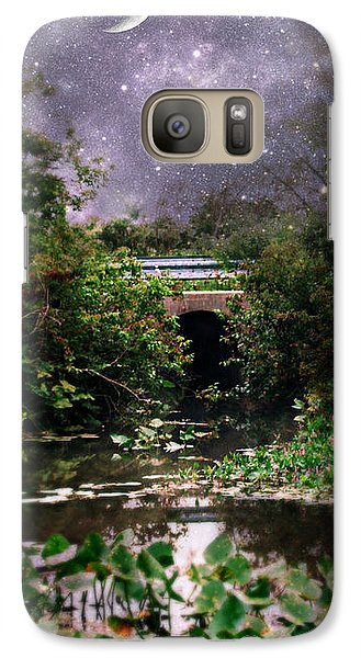 Galaxy Case featuring the photograph Moon And Stars by Lila Fisher-Wenzel