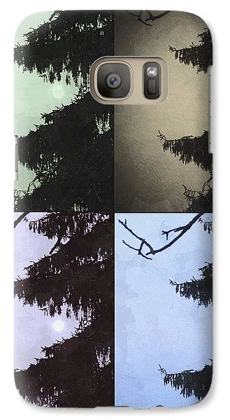 Galaxy Case featuring the photograph Moon And Tree by Photographic Arts And Design Studio