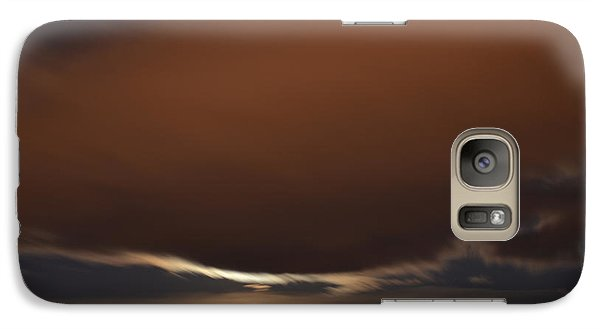 Galaxy Case featuring the photograph Moon Behind Clouds At Night  by Lyle Crump