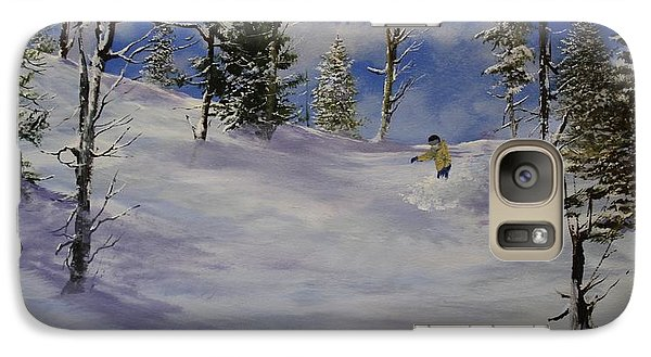 Galaxy Case featuring the painting Moon Dance by Ken Ahlering