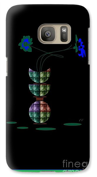 Galaxy Case featuring the digital art Moon Flower 1 by Ann Calvo