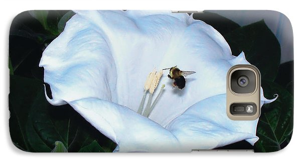 Galaxy Case featuring the photograph Moon Flower by Thomas Woolworth