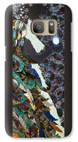 Galaxy Case featuring the tapestry - textile Moon Guardian - The Keeper Of The Universe by Apanaki Temitayo M