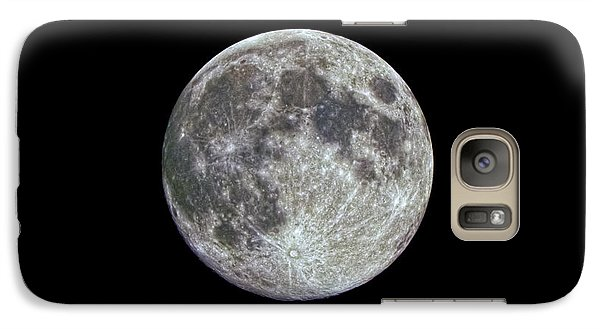 Galaxy Case featuring the photograph Moon Hdr by Greg Reed