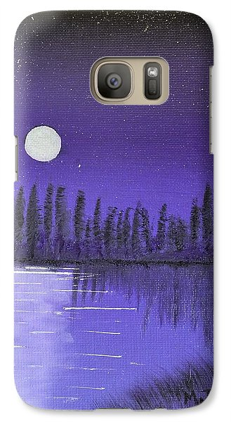 Galaxy Case featuring the painting Moon Lit Bay by Melvin Turner