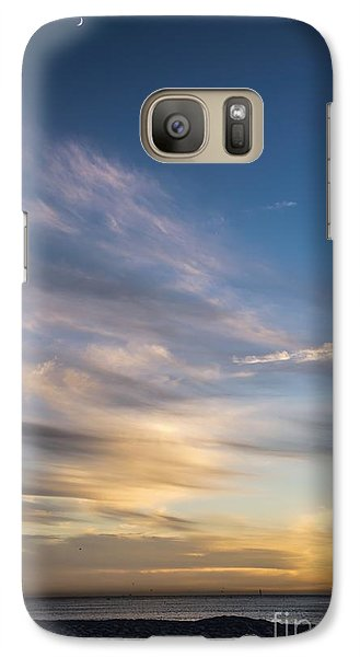Moon Over Doheny Galaxy S7 Case by Peggy Hughes