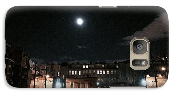 Galaxy Case featuring the photograph Moon Over Midtown by Toni Martsoukos