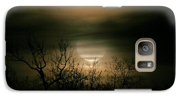 Galaxy Case featuring the photograph Moon Over Prince George by Karen Harrison