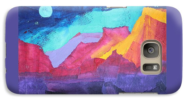 Galaxy Case featuring the painting Moon Over Sedona by Nancy Jolley
