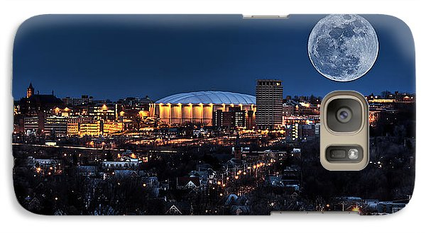 Moon Over The Carrier Dome Galaxy S7 Case by Everet Regal