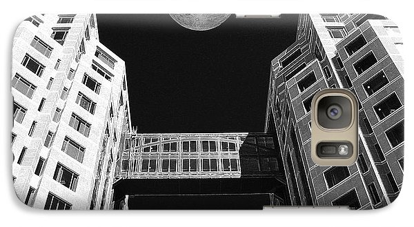 Galaxy Case featuring the photograph Moon Over Twin Towers by Samuel Sheats