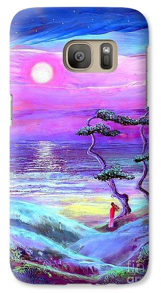 Moon Pathway,seascape Galaxy S7 Case