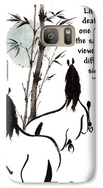 Galaxy Case featuring the painting Moon Reverence With Lao Tzu Quote I by Bill Searle