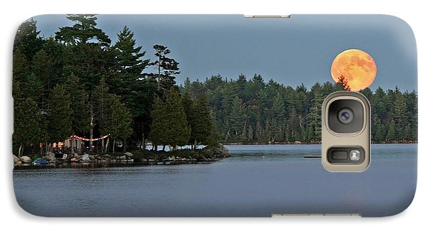Galaxy Case featuring the photograph Moon Rise At The Lake by Barbara West