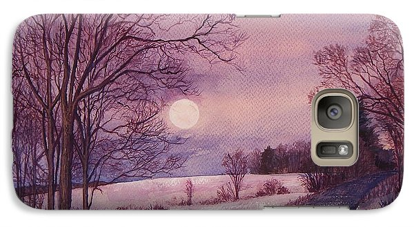 Galaxy Case featuring the painting Moon Rising by Joy Nichols