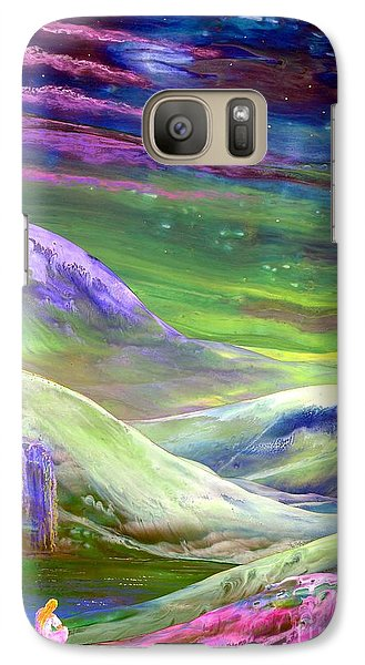 Galaxy Case featuring the painting Moon Shadow by Jane Small