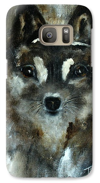Galaxy Case featuring the painting Moon Shadow The Baby Fox by Barbie Batson