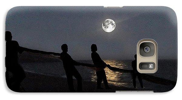Galaxy Case featuring the digital art Moon Shadows  by Eric Kempson
