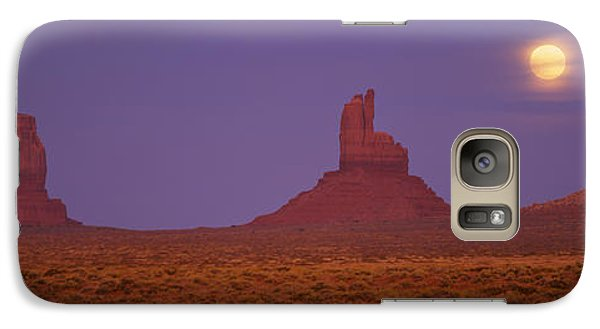 Moon Shining Over Rock Formations Galaxy Case by Panoramic Images
