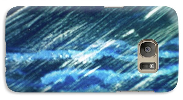 Galaxy Case featuring the painting Moon Shining Through Rain by Pamela  Meredith