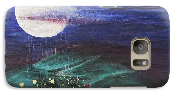 Galaxy Case featuring the painting Moon Showers by Cheryl Bailey